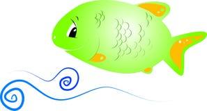 Peixes verdes Ilustração Royalty Free