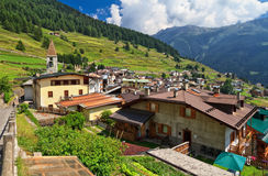 Pejo wioska - Val Di Zelujący Fotografia Royalty Free