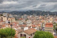 Pejzaż miejski środkowy Cannes, Francja fotografia stock