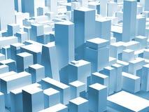 pejzaż miejski błękitny drapacz chmur ilustracji