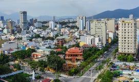 Pejzaż miejski Da nang, Wietnam zdjęcia royalty free