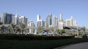pejzaż miejski Dubai marina panoramiczny sceny zmierzch zdjęcie wideo