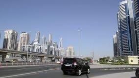 pejzaż miejski Dubai marina panoramiczny sceny zmierzch zbiory wideo