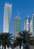 pejzaż miejski Dubai marina panoramiczny sceny zmierzch Zdjęcia Royalty Free