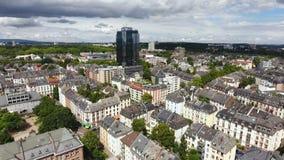 Pejzaż miejski Frankfurt, Niemcy - widok z lotu ptaka zbiory