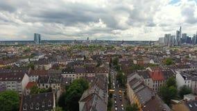 Pejzaż miejski Frankfurt, Niemcy - widok z lotu ptaka zbiory wideo