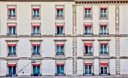 pejzaż miejski Geneva starzy rzędu okno obrazy royalty free