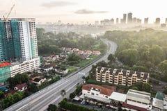 Pejzaż miejski Johor Bahru obrazy royalty free