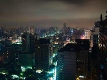 Pejzaż miejski Kaohsiung, Tajwan przy nocą fotografia royalty free