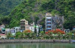 Pejzaż miejski kotów półdupków wyspa w Wietnam Fotografia Royalty Free