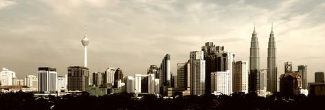 pejzaż miejski Kuala Lumpur Fotografia Royalty Free