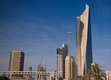 Pejzaż miejski Kuwejt miasto pod niebem, Kuwejt zdjęcia stock