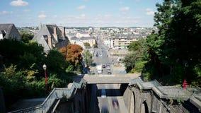 Pejzaż miejski Le Mans, miasto w zachodnim Francja zbiory wideo