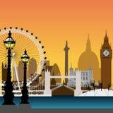 pejzaż miejski London royalty ilustracja