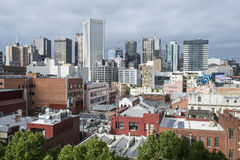 Pejzaż miejski Melbourne miasto od Russell ulicy Zdjęcia Royalty Free