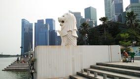 pejzaż miejski merlion Singapore obraz stock