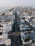 Pejzaż miejski Miami plaża, Floryda, usa widok z lotu ptaka Obraz Royalty Free