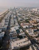 Pejzaż miejski Miami plaża, Floryda, usa widok z lotu ptaka Zdjęcie Royalty Free