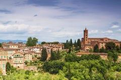 Pejzaż miejski miasto Siena, Tuscany zdjęcia royalty free