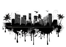 pejzaż miejski miastowy royalty ilustracja