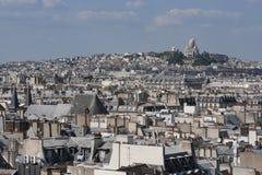 Pejzaż miejski Montmartre, Paryż Zdjęcia Royalty Free