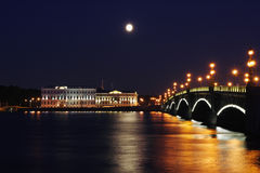 pejzaż miejski noc Petersburg Obraz Royalty Free