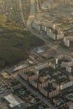 Pejzaż miejski od samolotu obrazy royalty free