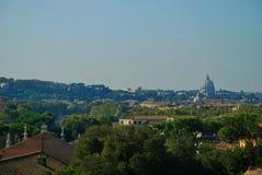 Pejzaż miejski od wzrosta, dachy czerwone płytki Obrazy Stock