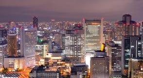pejzaż miejski Osaka Obrazy Royalty Free