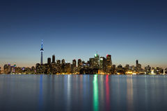 pejzaż miejski półmrok Toronto Fotografia Royalty Free