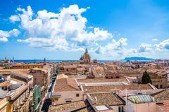 Pejzaż miejski Palermo w Włochy Zdjęcia Royalty Free