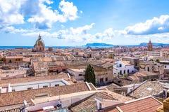 Pejzaż miejski Palermo w Włochy Fotografia Stock