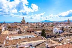 Pejzaż miejski Palermo w Włochy Zdjęcia Stock