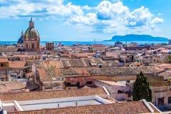 Pejzaż miejski Palermo w Włochy Obrazy Royalty Free