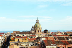Pejzaż miejski Palermo z kopułami stary miasteczko Obrazy Stock