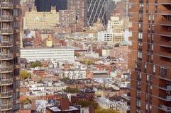 Pejzaż miejski piekła ` s kuchnia w Miasto Nowy Jork obrazy stock