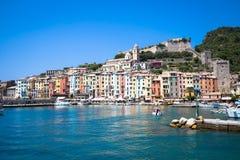 Pejzaż miejski Porto Venere Włochy, Czerwiec - 2016 - Fotografia Royalty Free