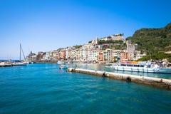 Pejzaż miejski Porto Venere Włochy, Czerwiec - 2016 - Obrazy Stock