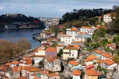 Pejzaż miejski Porto w Portugalia Obrazy Royalty Free