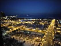 Pejzaż miejski przy nocą Zdjęcia Royalty Free