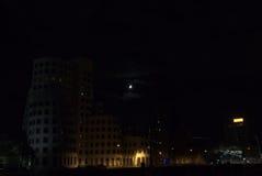 Pejzaż miejski przy nocą Obraz Stock