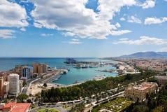 pejzaż miejski schronienie Malaga zdjęcie royalty free