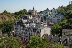 Pejzaż miejski stary Kijów zdjęcia stock