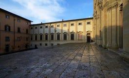 Pejzaż miejski stary miasteczko Arezzo obraz royalty free