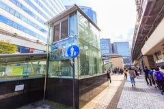 Pejzaż miejski Tokio Ginza okręg Ginza jest jeden luksusowi zakupów okręgi w świacie Fotografia Royalty Free