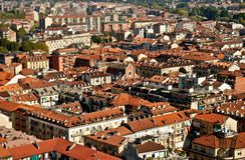 pejzaż miejski Torino Zdjęcia Stock