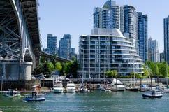Pejzaż miejski Vancouver, kolumbiowie brytyjska, Kanada †'Fałszywa zatoczka Zdjęcie Stock