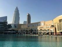 Pejzaż miejski w Dubaj dniu zdjęcia stock
