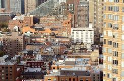 Pejzaż miejski w piekła ` s kuchni, Manhattan, Nowy Jork zdjęcie royalty free