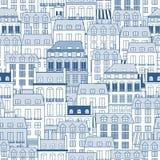 Pejzaż miejski wzór Obraz Stock